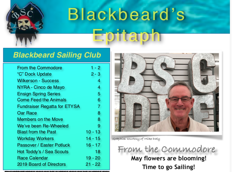 Epitaph Newsletter - May, 2019 - Blackbeard Sailing Club